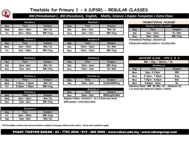 primary-1-6-timetable-2014